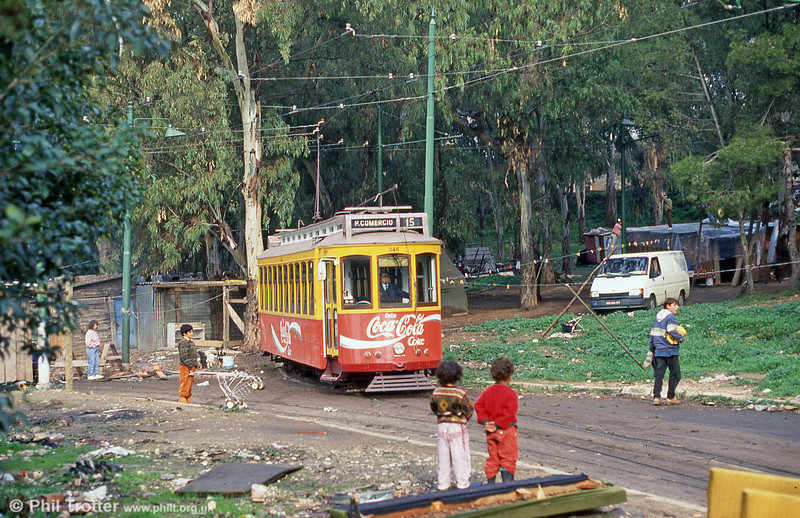 Car 346 at Cruz Quebrada terminus on 23rd November 1993.