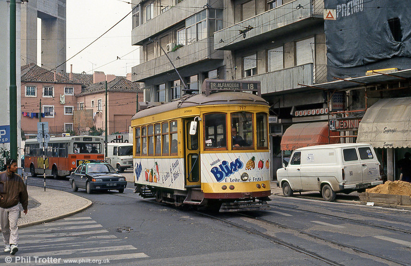 Car 717 at Largo Calvário on 23rd November 1993.