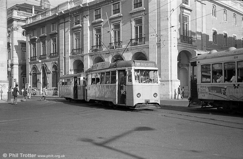 Lisbon rebuilt car 284 with matching trailer.