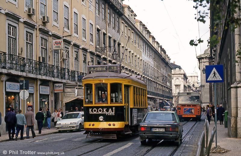 Car 704 at Rua Da Conceição on 22nd November 1993.