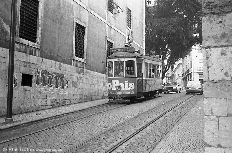 Lisbon 716, one of the hilly route cars built in 1935-40.