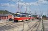 Bratislava Tatra K2 7053 at Komisárky terminus on 16th August 1992.