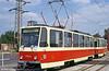 Bratislava Tatra T6A5 7911 at Ružinovská terminus on 16th August 1992.
