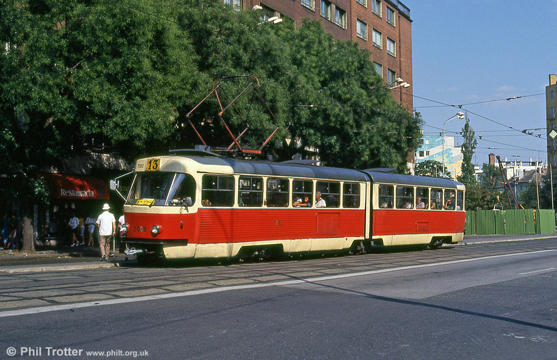 Bratislava K2 7082 at Kamenné námestie on 16th August 1992.