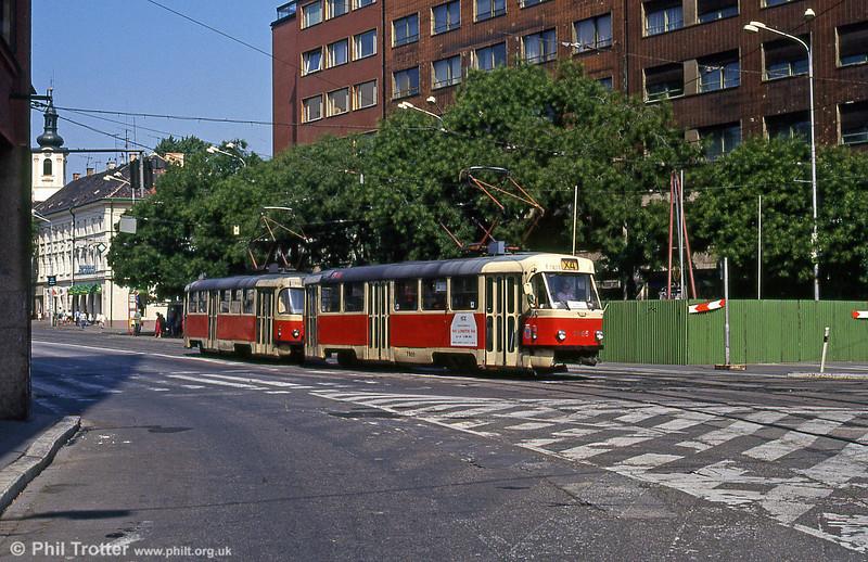 Tatra T3 7805 at Kamenné námestie on 16th August 1992.
