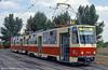 Bratislava Tatra T6A5 7933 at Ružinovská terminus on 16th August 1992.