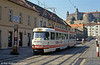 With Bratislava Castle on the hillside, Tatra K2 7047 is seen at Zámocká on 16th August 1992. Always preferred Fuji film, personally...