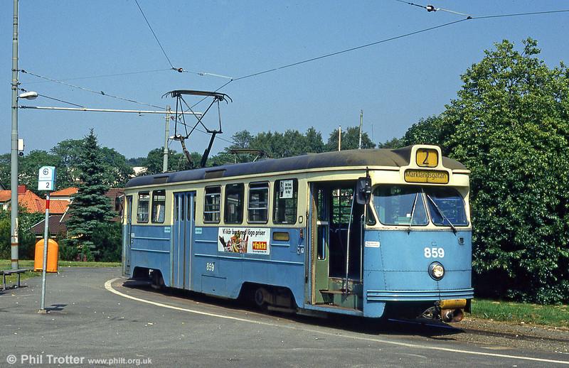 Car 859 at Marklandsgatan on 29th July 1991.