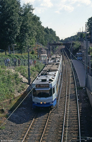 Goteborg 218 at Kortedela on 30th July 1991.