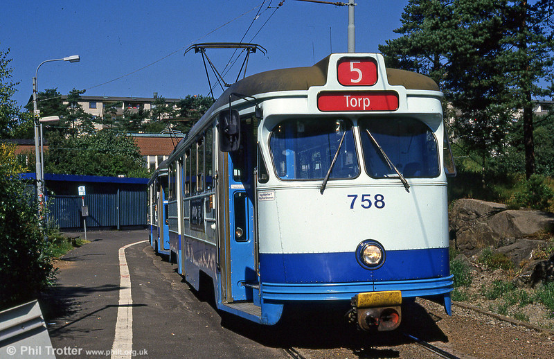Car 758 at Länsmansgården on 30th July 1991.