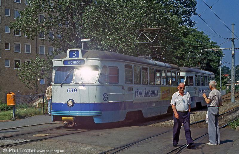 Car 539 at Marklandsgatan on 29th July 1991.