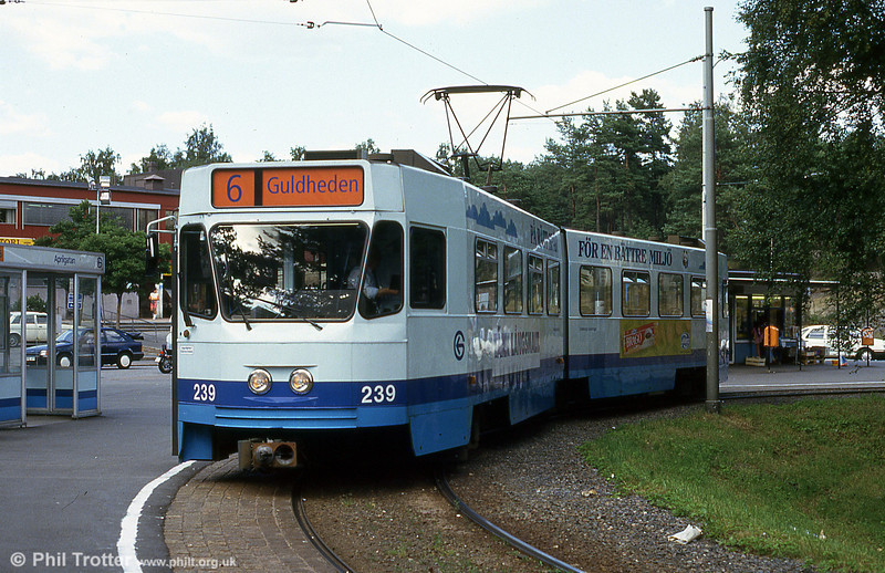 Goteborg 239 at Kortedela on 30th July 1991.