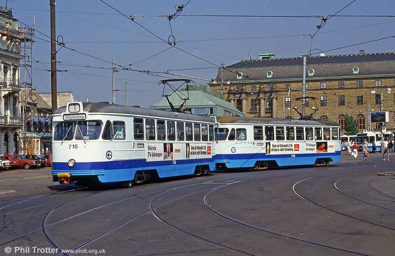 Car 716 at the Central Station on 29th July 1991.