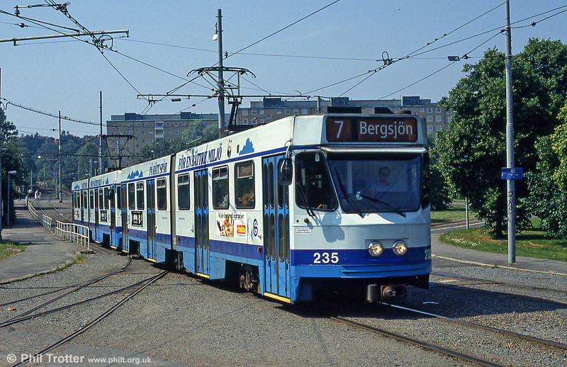 Car 235 at Marklandsgatan on 29th July 1991.