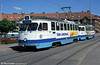 Goteborg M25 car 531 shows its new livery to good effect at Redbergsplatsen on 30th July 1991.