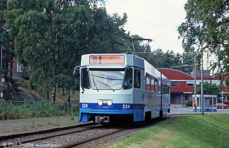 Goteborg 224 at Kortedela on 30th July 1991.