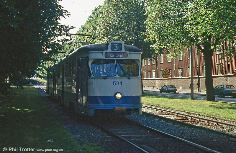 Goteborg 531 at Ostindiegatan on 30th July 1991.