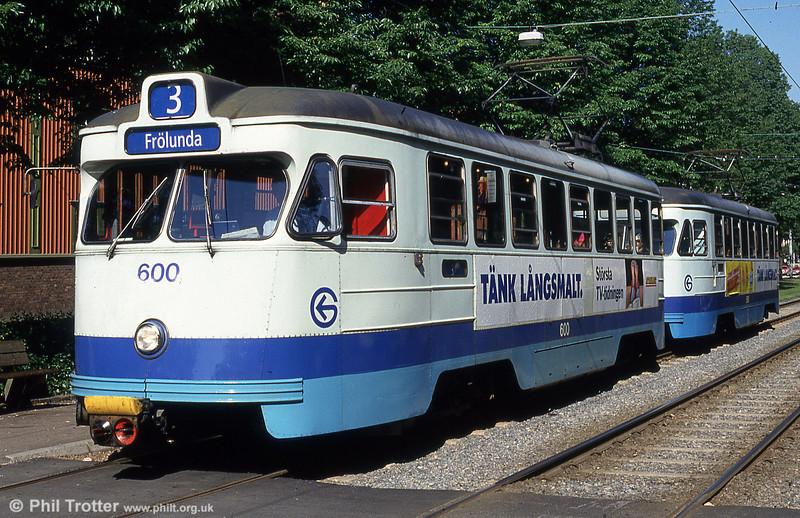Goteborg 600 at Ostindiegatan on 30th July 1991.
