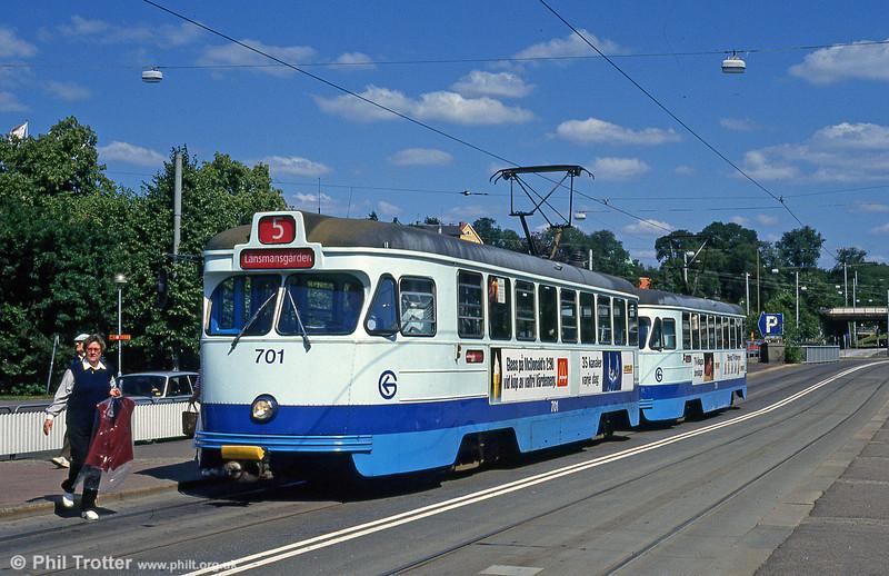 Car 701 at Liseberg on 30th July 1991.