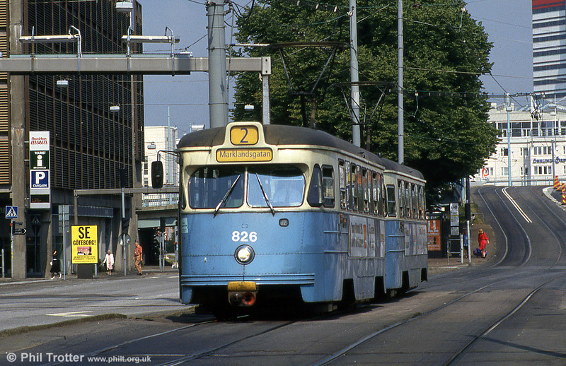 Goteborg 826 near the Central Station on 4th August, 1991.