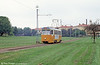 The tramway that runs through a field! Car 138 at Klingsberg on 2nd August 1991.