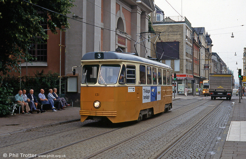 Car 131 at Knäppingsborgsgatan on 2nd August 1991.