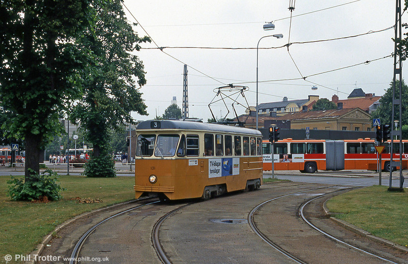Car 131 at the Railway Station on 2nd August 1991.
