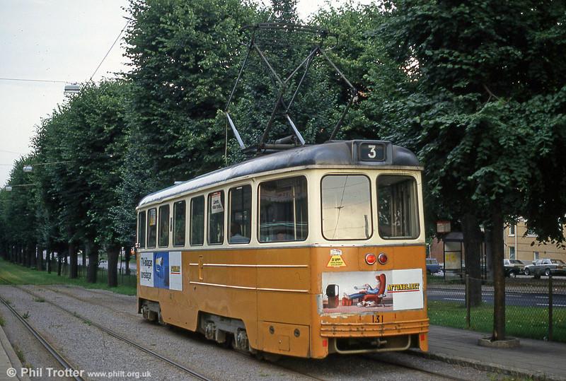 Car 131 at Humpgatan on 2nd August 1991.