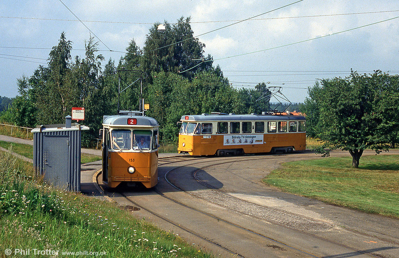 Cars 153 and 138 at Fridvalla on 2nd August 1991.