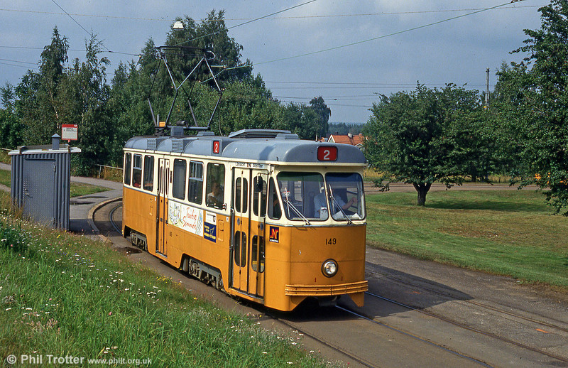Car 149 at Fridvalla on 2nd August 1991.