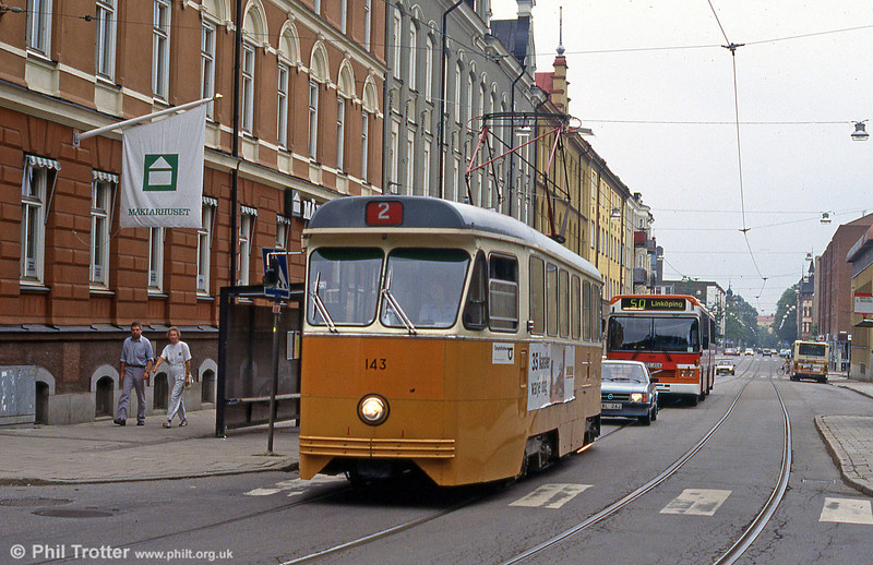 Car 143 at Söder Tull on 2nd August 1991.