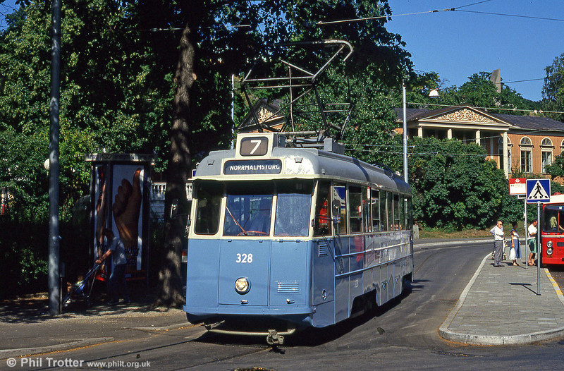 former Goteborg 328 at Skansen on 31st July, 1991.