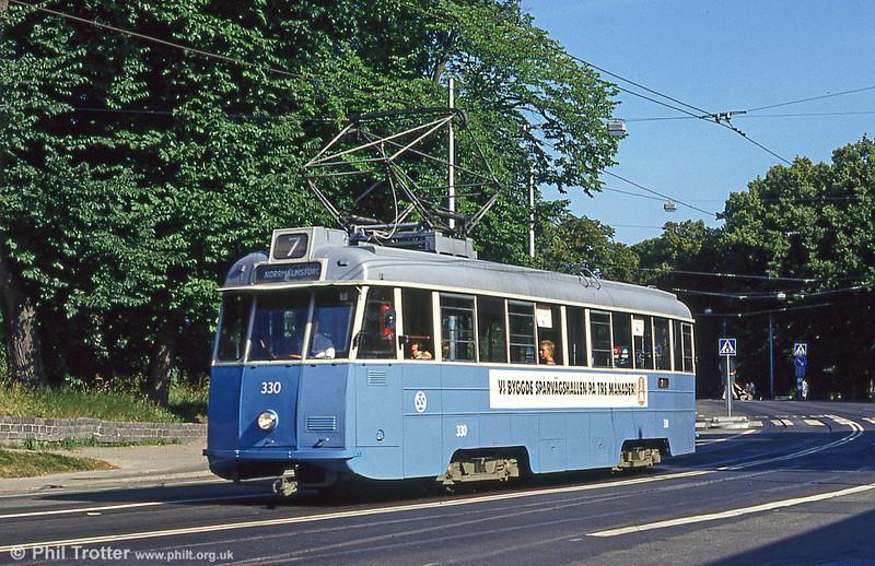 Car 330 at Konsthall on 31st July 1991.