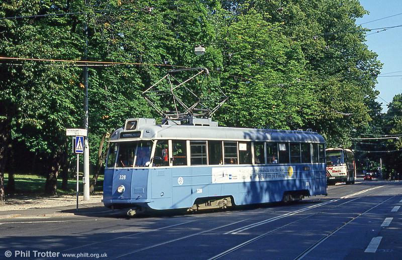 Car 328 at Skansen on 31st July 1991.