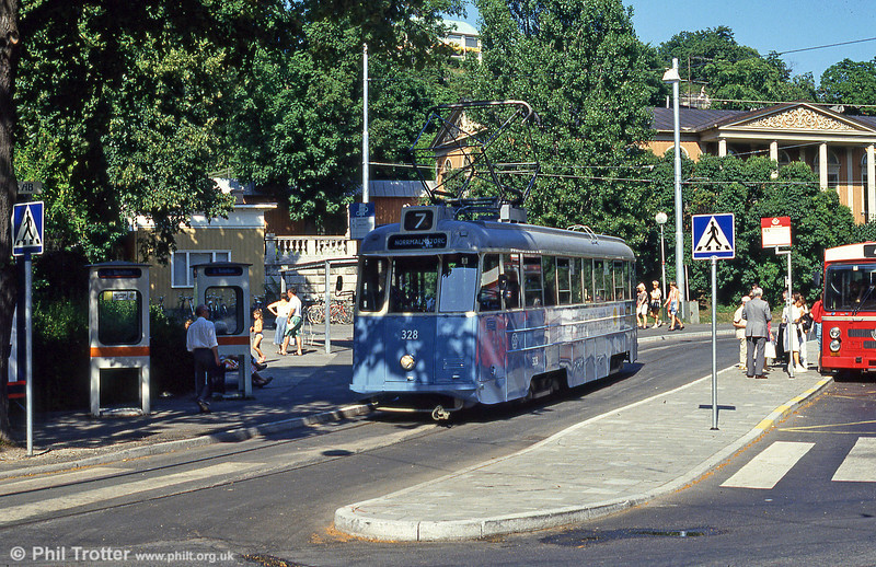 Car 328 at Skansen on 31st July 1991.