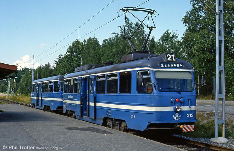 Car 313 at Gashaga on 31st July 1991.