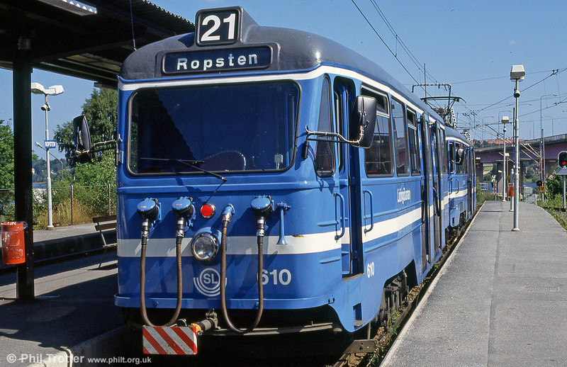 Car 610 at Ropsten on 31st July 1991.