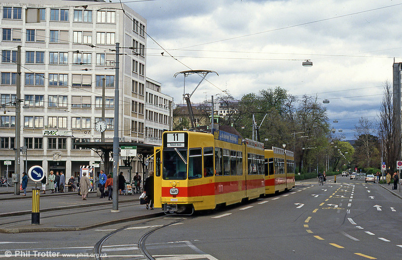 Car 226 at Aeschenplatz on 7th September 1989.