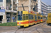 Basel (BLT) 255 in the City Centre on 7th September, 1989. (First published in Modern Tramway, 7/90).