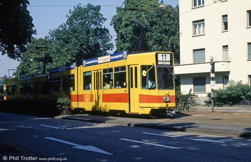 Basel BLT 202 at Dreispitz on 16th April 1992.