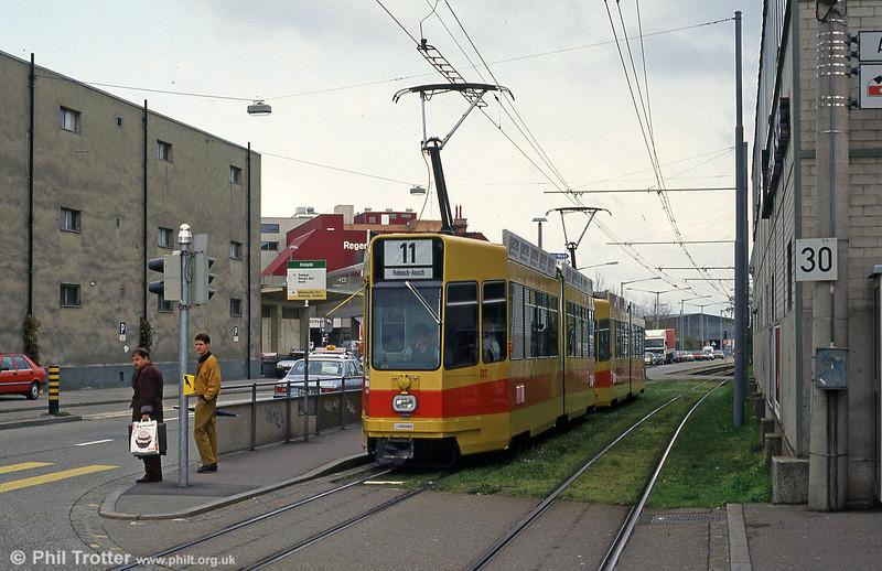 Basel BLT 209 at Dreispitz on 16th April 1992.