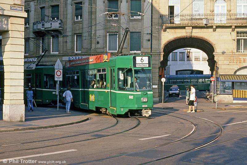 Car 502 at Barfusserplatz on 15th April 1992.