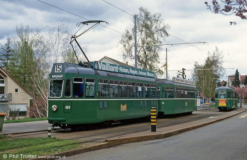 Basel car 464 at Bruderholz on 15th April 1992.