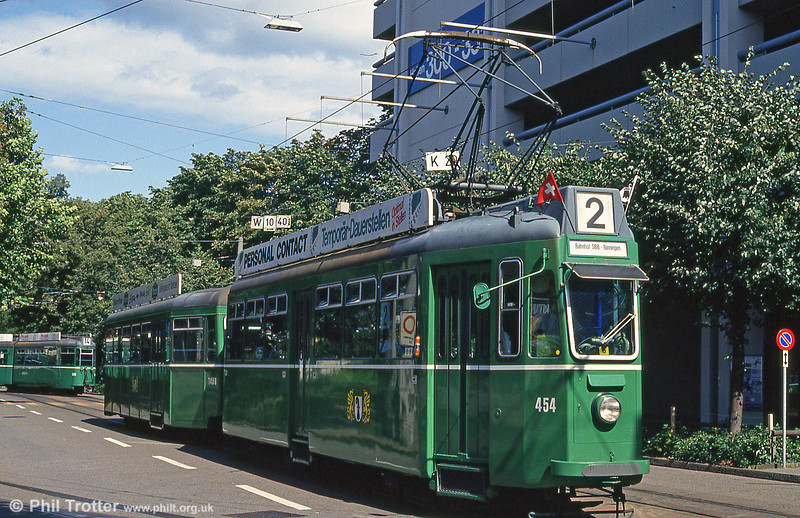 Car 454 at  Mustermesse on 31st July 1993.