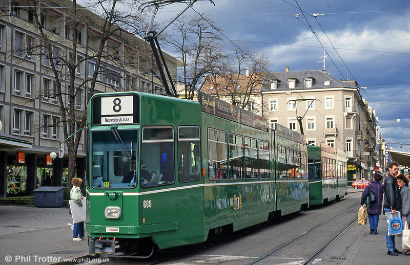 Car 669 at Claraplatz on 15th April 1992.