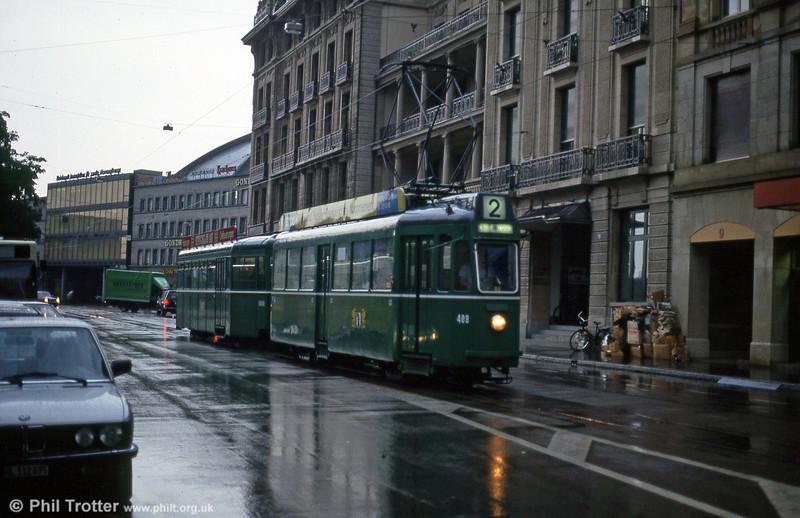 Car 409 near the Hauptbahnhof on 4th August 1993.