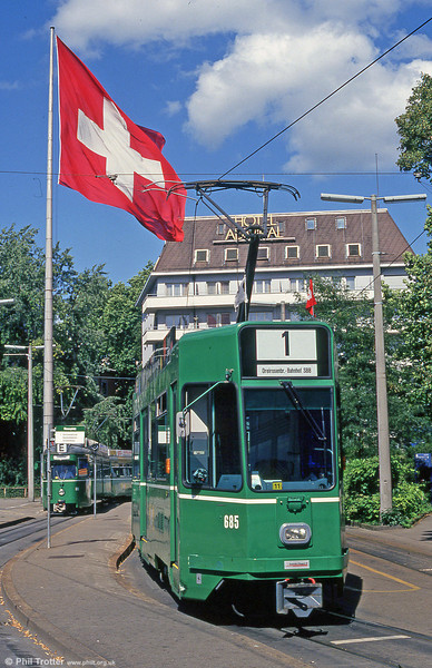 Car 685 at  Mustermesse on 31st July 1993.