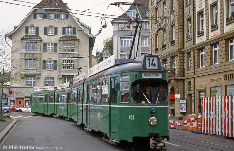 Car 650 at Marktplatz on 7th September 1989.