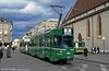 Basel car 659 at Claraplatz on 15th April 1992. 659 to 686 were built by Schindler in 1990-1991.