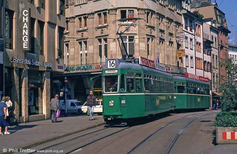 Car 463 at Marktplatz on 7th September 1989.